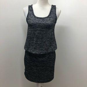 Loft Black Silver Thread Detail Tank Dress M